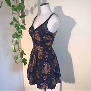 Floral Print Fit and Flare Party Dress